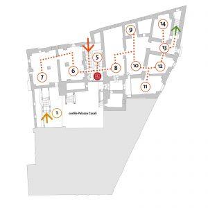 MAEC Cortona | mappa piano -1