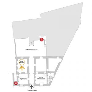 MAEC Cortona | mappa piano terra