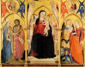 Trittico con Madonna con Bambino e Santi