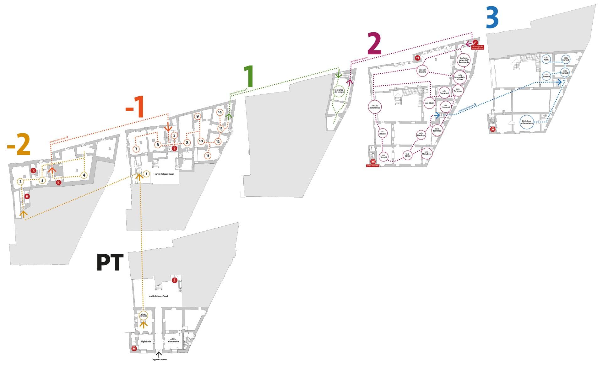 MAEC Cortona | Mappa del museo