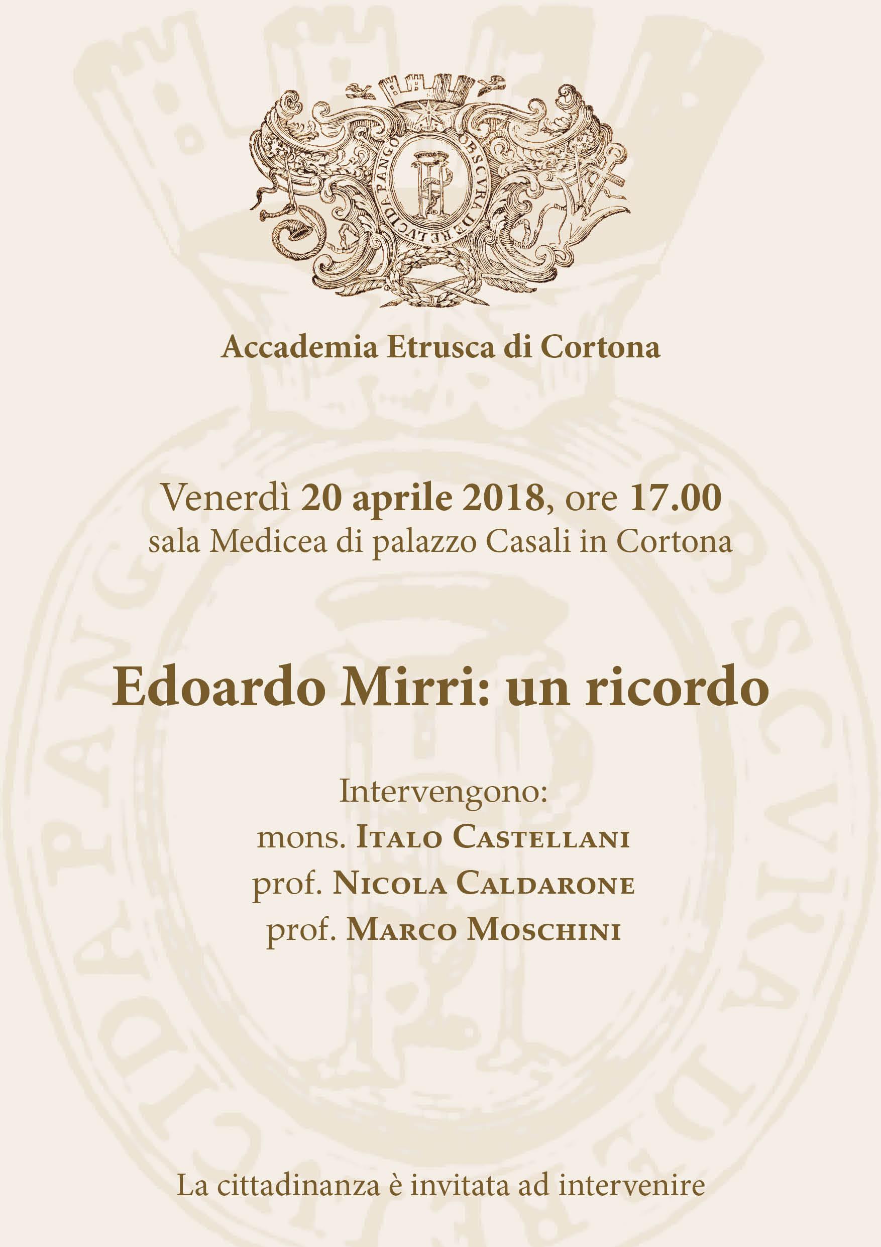 MAEC | Commemorazione Mirri