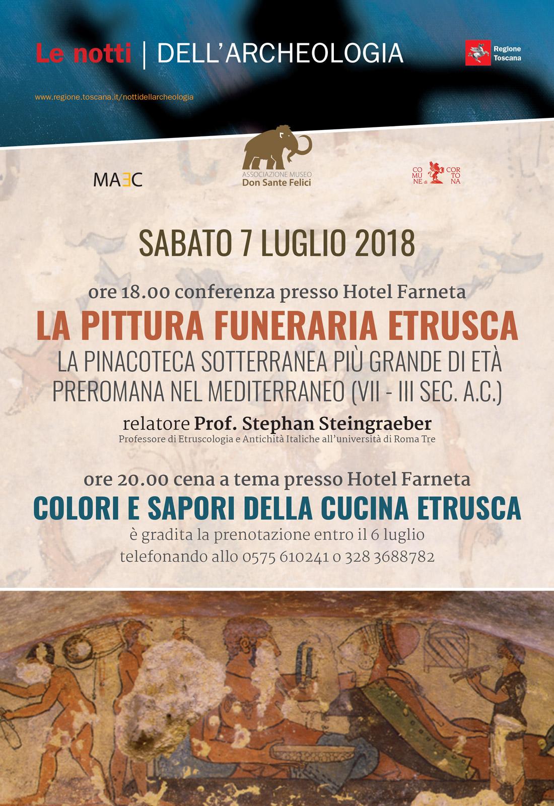 Conferenza sulla pittura funeraria etrusca