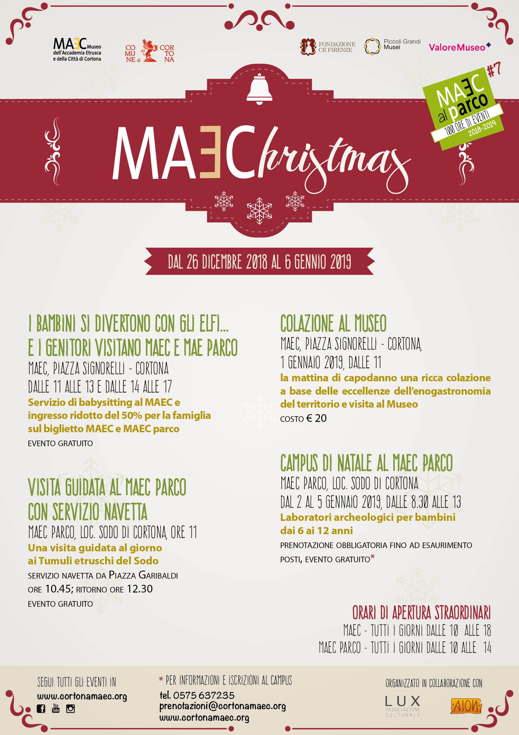 Eventi di Natale al MAEC