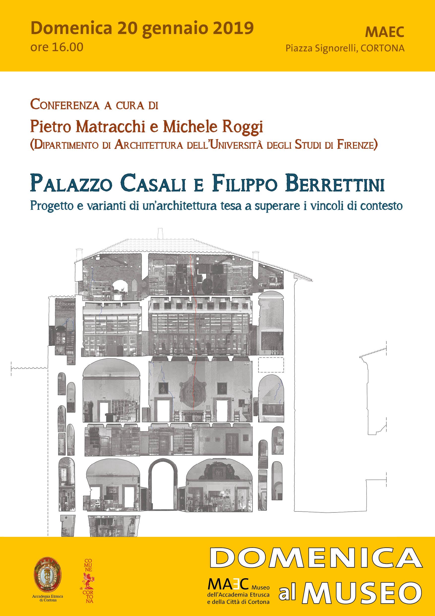 Conferenza architettura palazzo casali