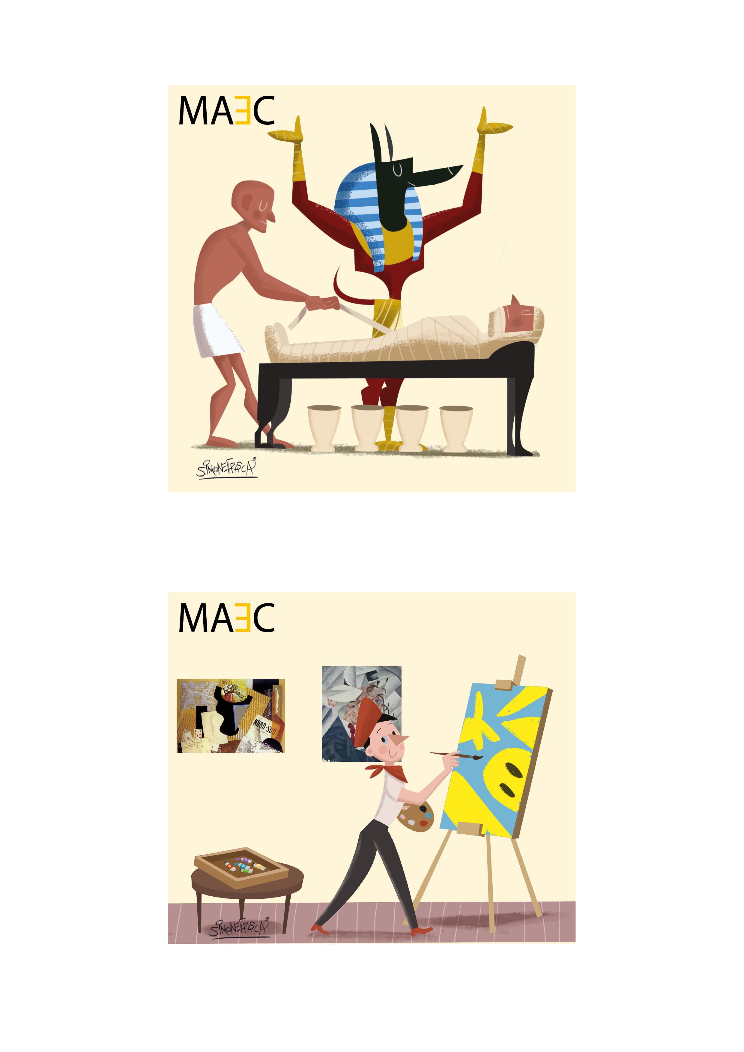 disegni illustrati del MAEC