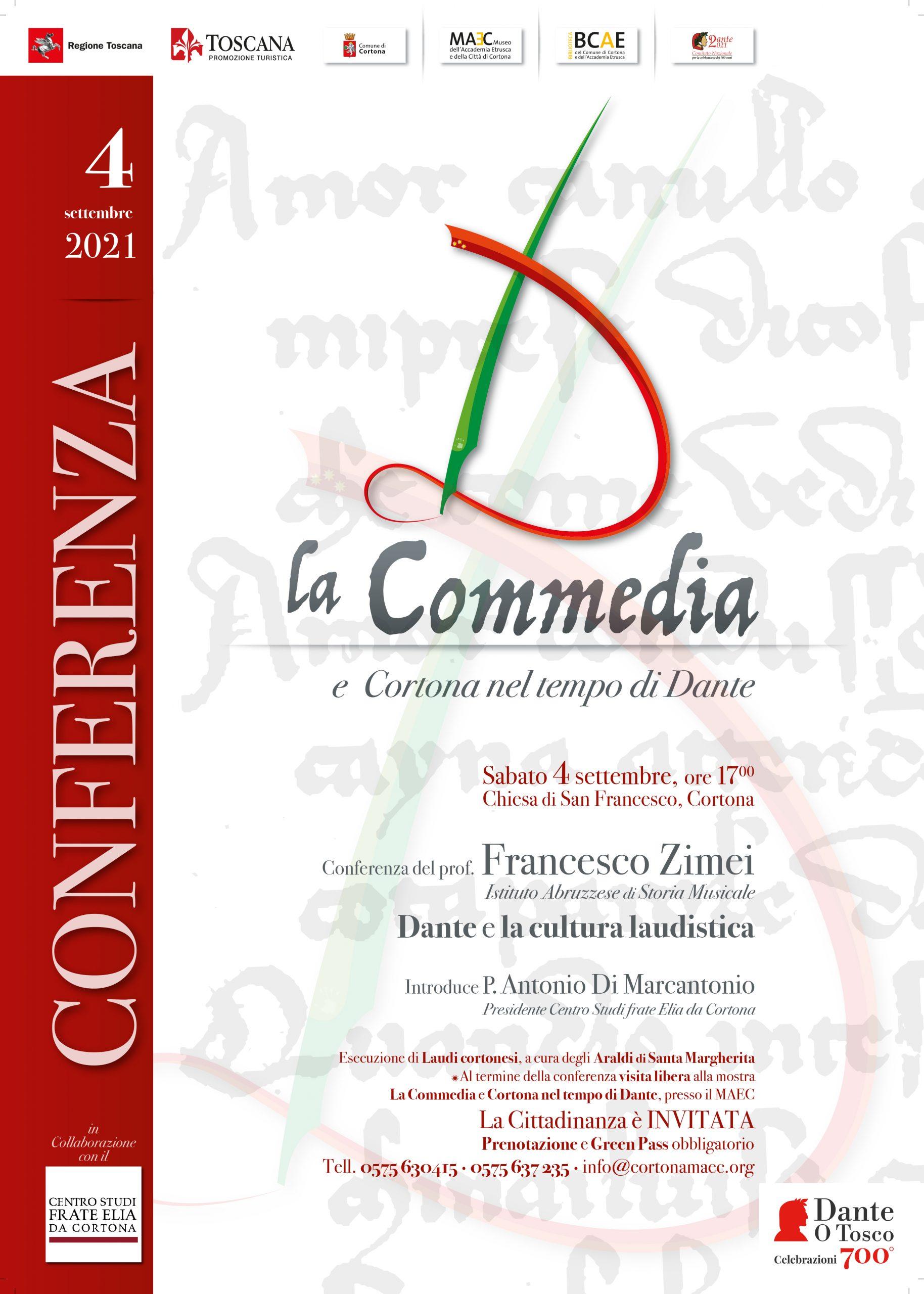 Celebrazioni dantesche a Cortona